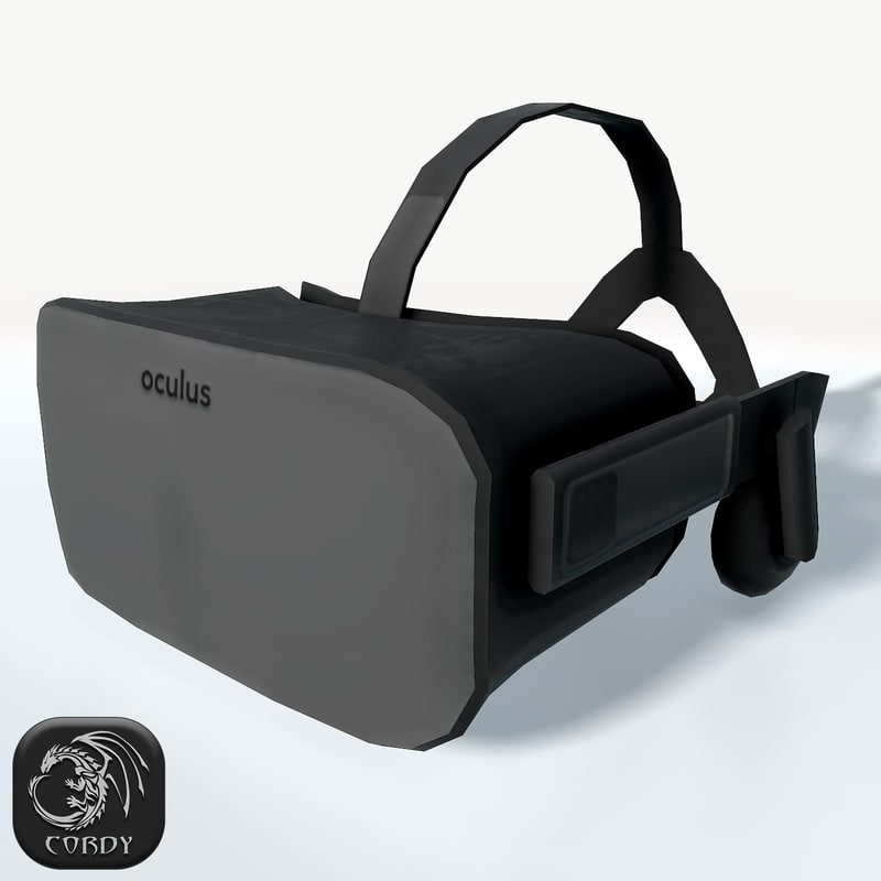 3d model of oculus rift headset