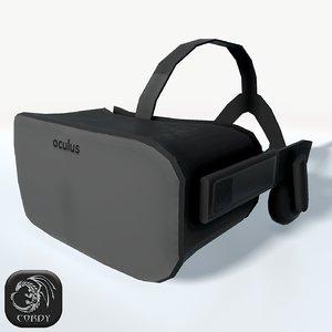 3d model of oculus rift headset