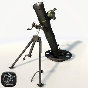 3d model mortar 2b25