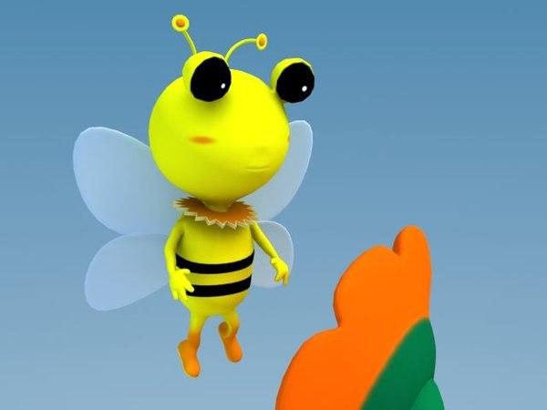 3d model cartoon bee