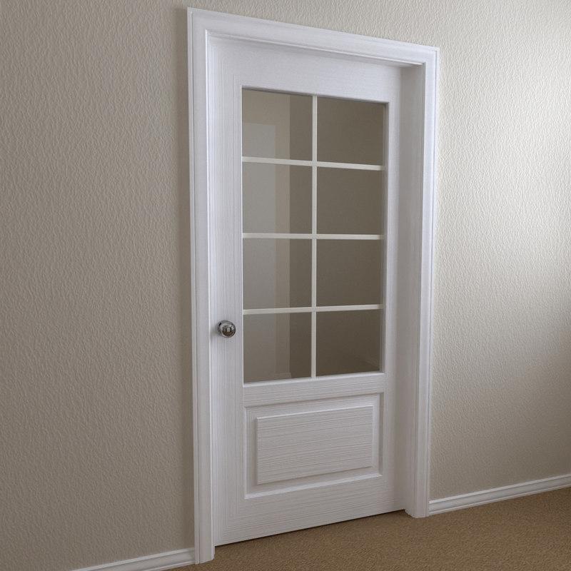 3d Interior Door 2 Panel Model
