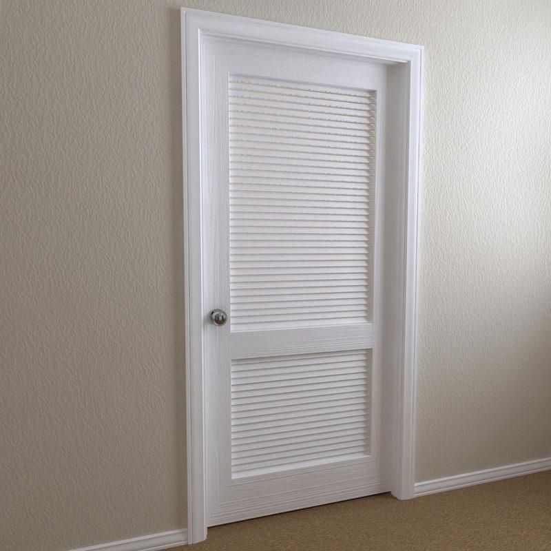 interior door - 2-panel 3d model