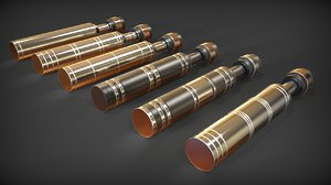 3d lightsaber diatium power cell model