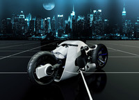 3d futuristic motorcycle concept model