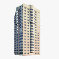 3d model 17-storey building residential
