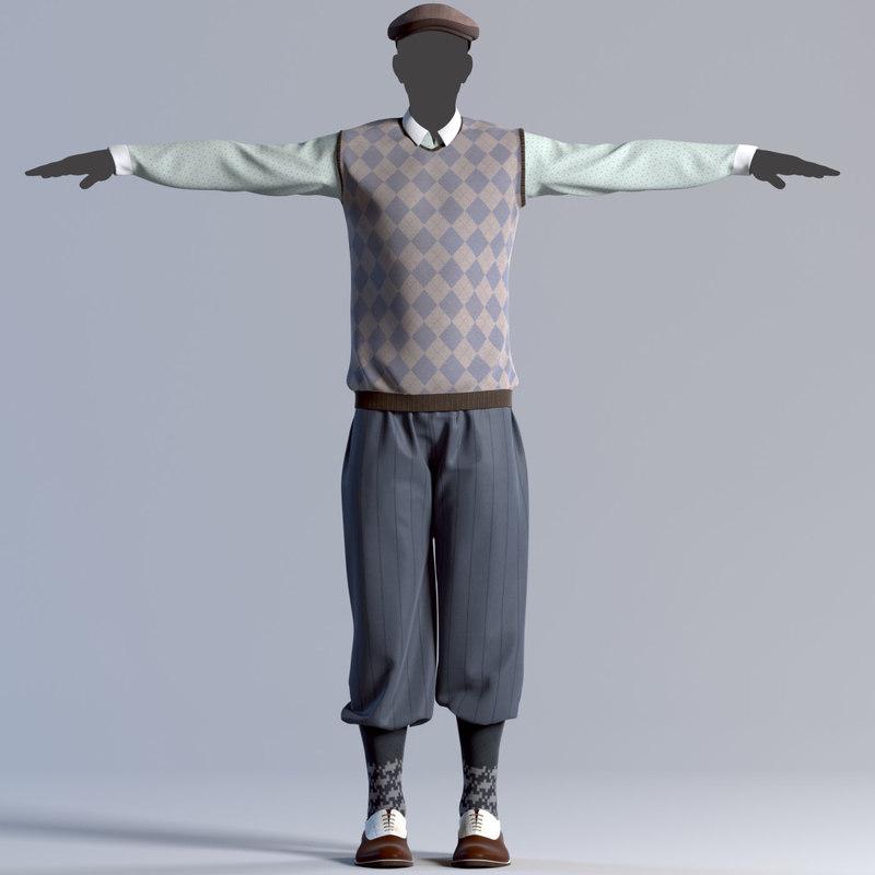 3d mens clothes