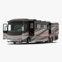 American Recreation Vehicle RV 2 Rigged 3D Model