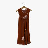 dress hanger red c4d