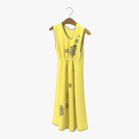 dress hanger yellow 3d max
