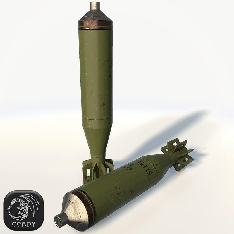 3d mortar shell