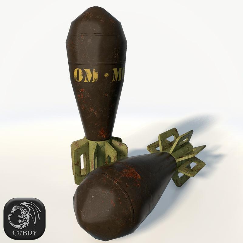 3d mortar shell model