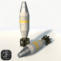 Mortar shell low poly