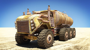 apocalyptic truck 3d model