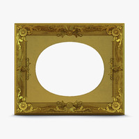 3d baroque picture frame 7