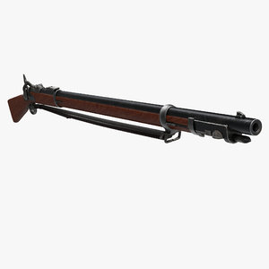 3d photorealistic springfield musket rifles