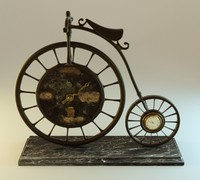 3d blender bicycle clock model