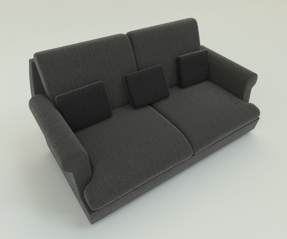 pbr fabric sofa 3ds