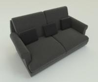 pbr fabric sofa 3ds