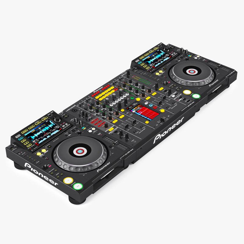 3d dj mixer pioneer djm-2000 model