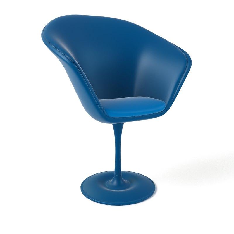 3d model cartoon armchair