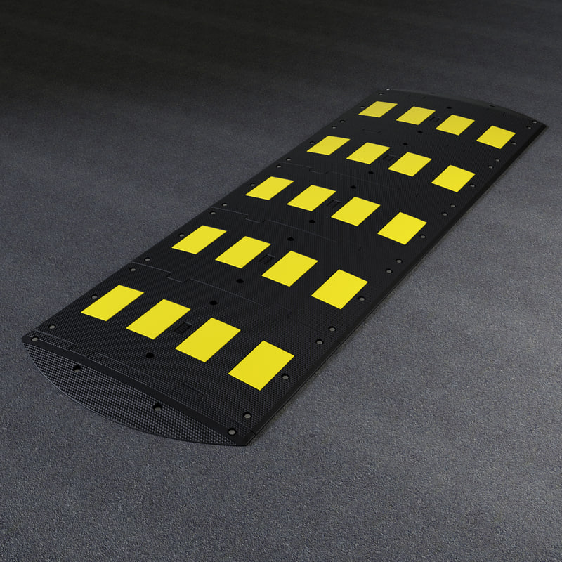 3d speed bump model