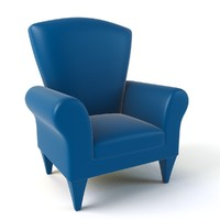3d cartoon armchair model