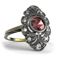 antique ring 3d max