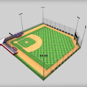 baseball stadium 3d max