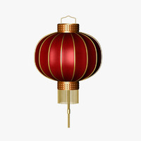 3d chinese lantern lighting model