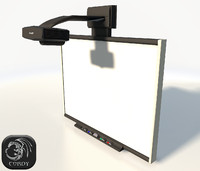 Smartboard interactive low poly