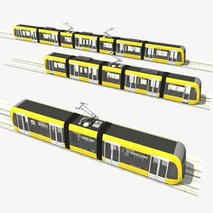 3d model modular tram