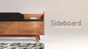 c4d vintage sideboard
