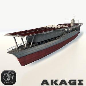 akagi aircraft carrier 3d model
