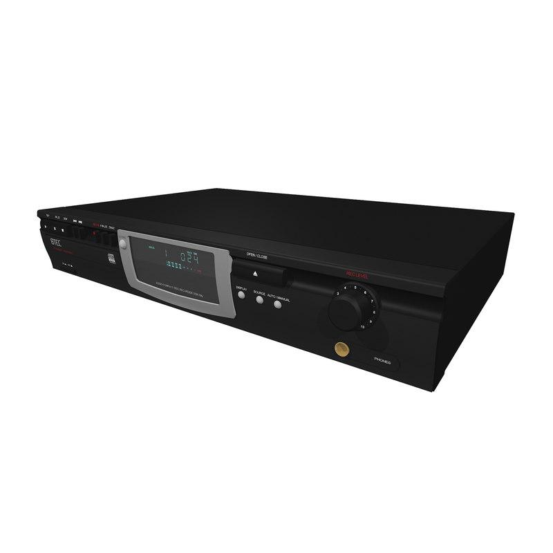 3d model cd burner recorder
