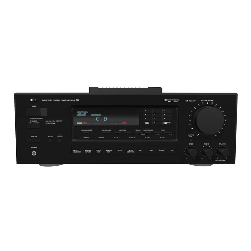 3d model stereo receiver