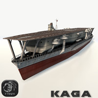3d kaga aircraft carrier