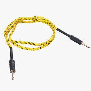 guitar cable 3d model