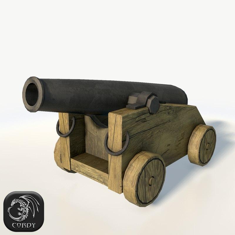 3d model vessel cannon