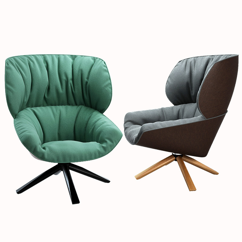 armchairs b italia 3d model