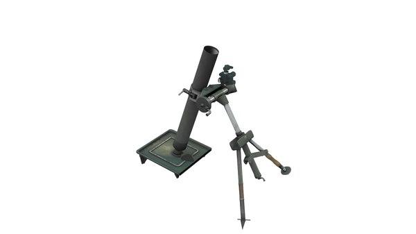 3d m57 60mm mortar model