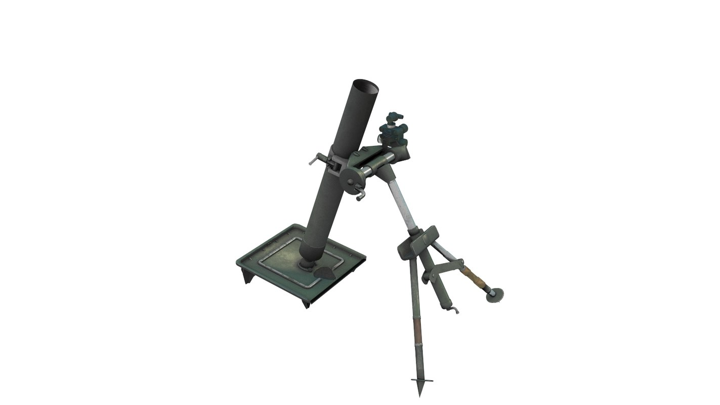 3d m57 60mm mortar model