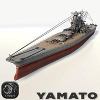 yamato ship battleships 3d 3ds