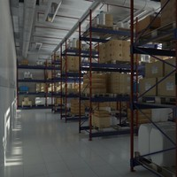 warehouse shelves 3d model
