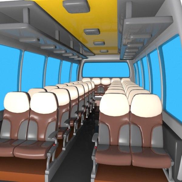cartoon bus interior 3d max