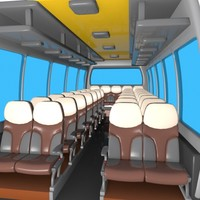 cartoon bus interior 3d max