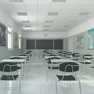 lecture auditorium universities 3d max