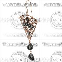 3d model ring earrings