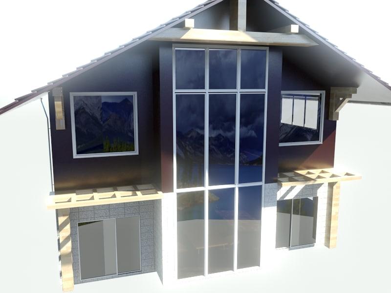 3d model house cottage