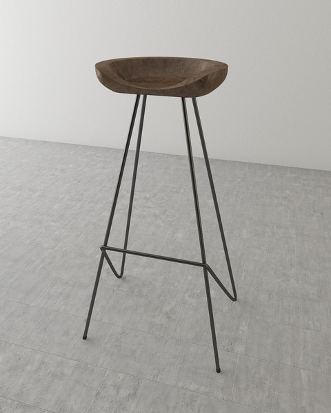 perch barstool 3d model