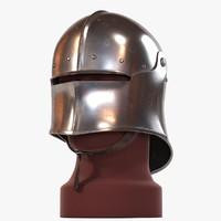 3d sallet medieval helmet